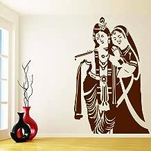 DecorVilla Radha Krishna Wall Sticker and Decal (PVC Vinyl,58 x 93 cm)