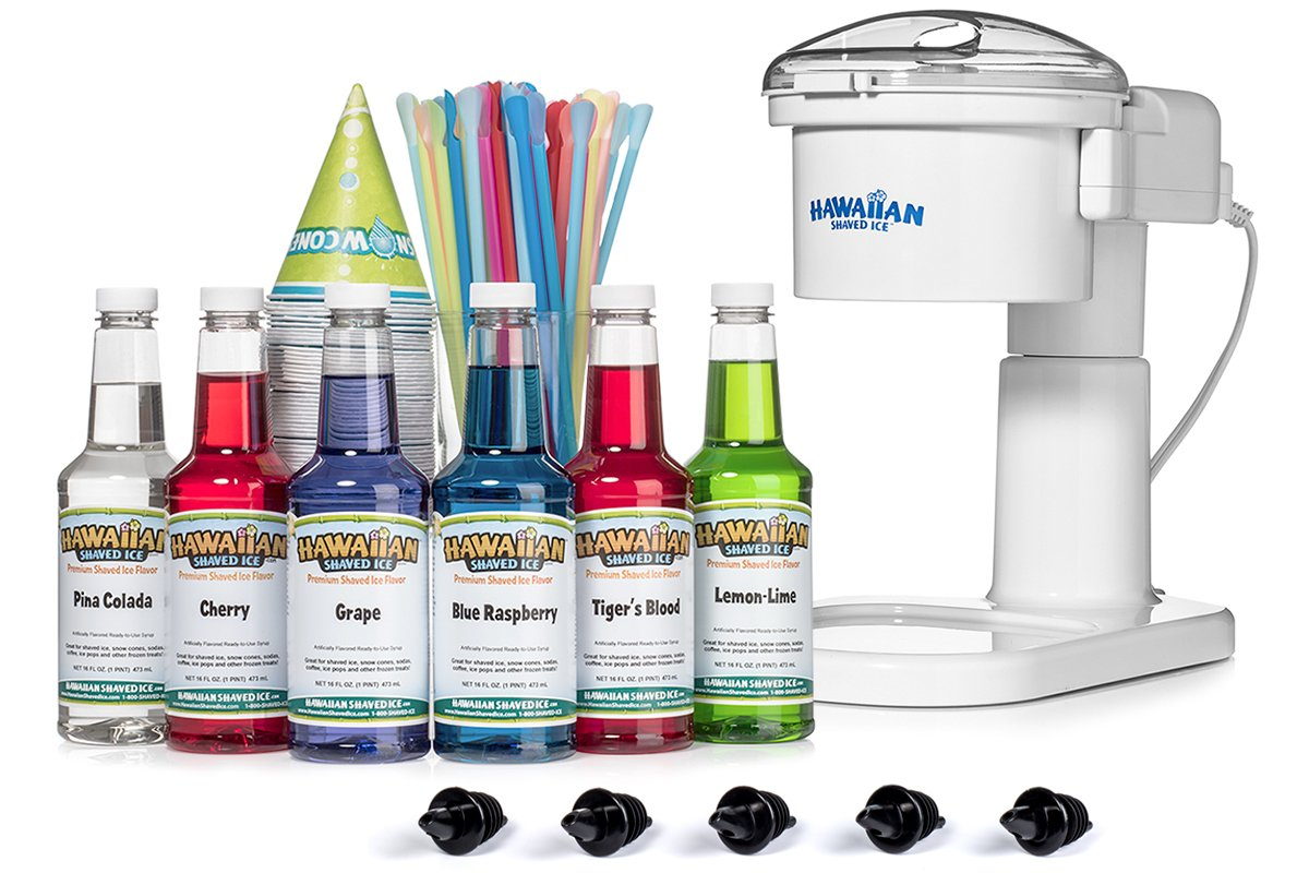 Hawaiian Shaved Ice Ranking TOP10 Snow Excellence Cone 6 Machine Kit Flavor