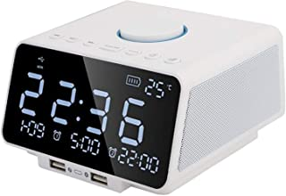 $68 » Socobeta Wireless Bluetooth Music Player Wireless Alarm Clock Speaker Bluetooth Speaker Box with 5.5-Inch Dimmable LED Dis...