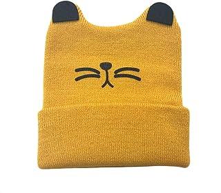 Morninganswer Bonnet tricoté pour nouveau-né avec oreilles de chat - Pour le printemps, l'automne et l'hiver