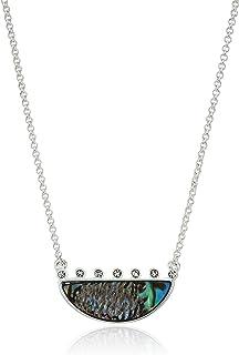 قلادة Lucky Brand Jewelry ذات وجهين Abalone Pave Necklace Necklace