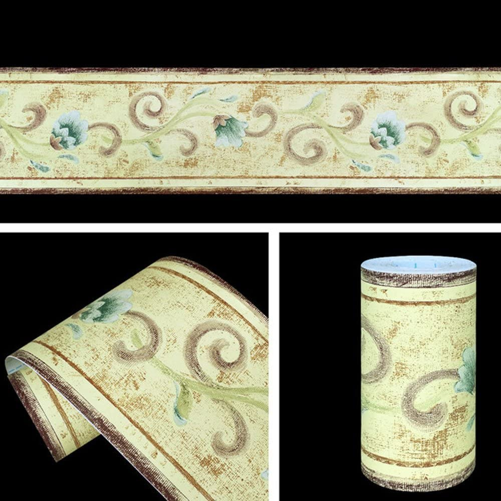Yifely Yellow Shipping included Wallpaper Border Peel Outlet SALE Wall Kitche Stick Covering