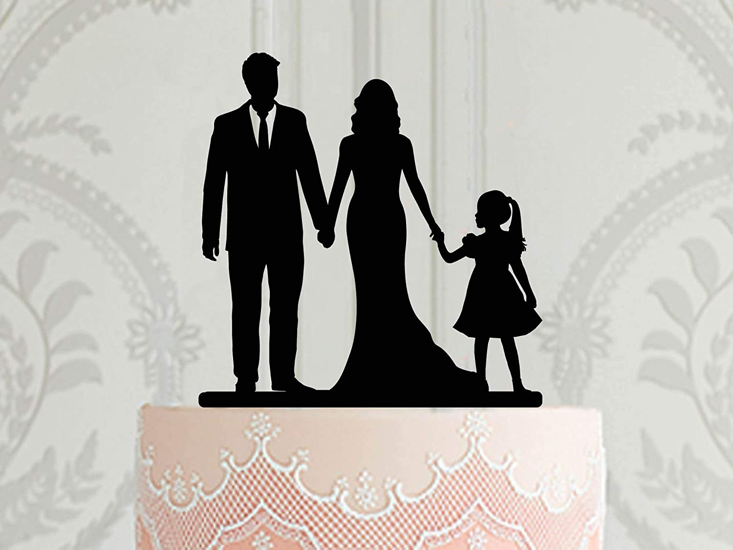 Family Wedding Super sale period limited Cake Topper Bride With Today's only Child And Groom