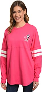 Disney Jersey Women's Mickey or Minnie Mouse Long Sleeve