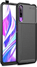 Pulen for Huawei Honor 9X Case, Shock Resistant Brushed Flexible Soft TPU Bumper Cover Phone Protective and Carbon Fiber Design for Huawei Honor 9X