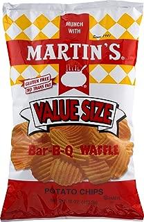 Martin's Bar-B-Q Waffle Potato Chips 15 Ounces Value Size (2 Bags)