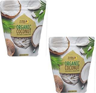 Nutty & Fruity Organic Coconut Strips- Unsulfured & Unsweetened (2 Pack)