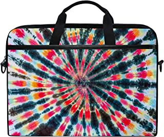 JOKERR Laptop Case Bag India Tribal Tie Dye 14 inch to 14.5 inch Briefcase Messenger Computer Sleeve Tablet Bag with Shoulder Strap Handle for Boys Girls