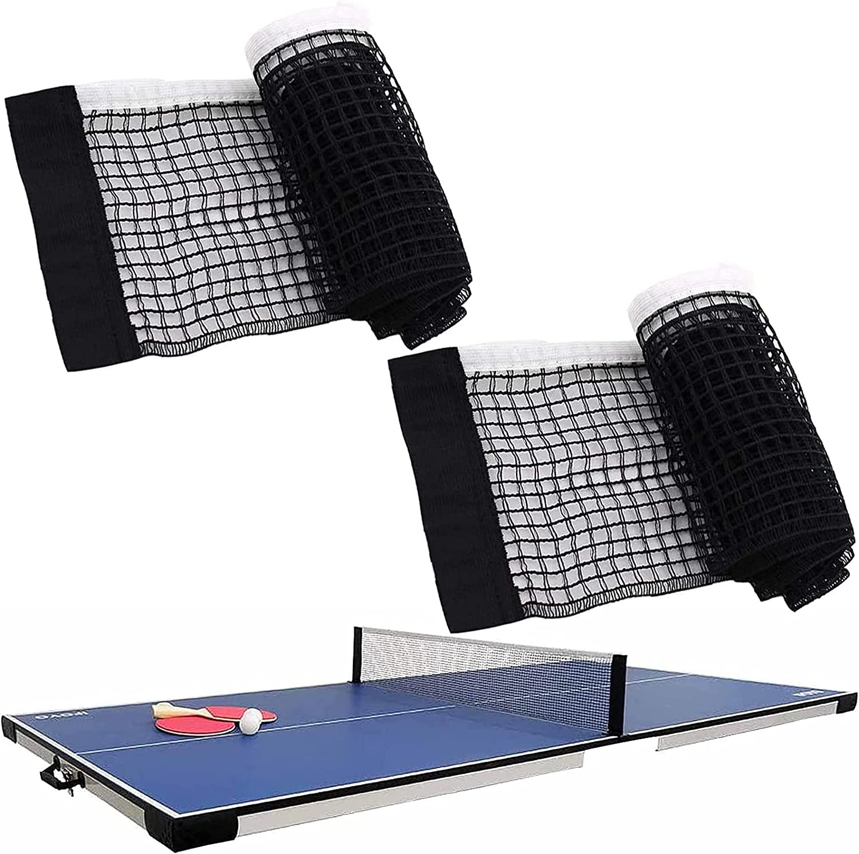 Red De Ping Pong De Nailon Red De Ping Pong Red De Red De Nailon Juego De Red De Tenis De Mesa Accesorios De Tenis De Mesa Red De Tenis De Mesa Plegable para Competiciones y Tenis De Mesa 2 Piezas