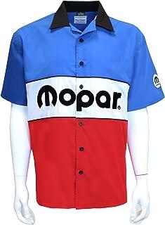 Mopar Chrysler Pentastar Pit Crew – Red White Blue – Button Up Mechanic Shirt