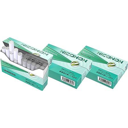 NICONON ニコノン 禁煙後の新しいカタチ。アイコス互換機 次世代ニコチン0mg加熱式スティック (メンソール, 3箱セット(1箱20本入り))