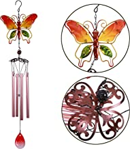 xxschy 30 Inch Butterfly Wind Chimes Indoor/Outdoor - Waterproof 4 Gold Aluminum Tube Handmade Metal Music Wind Chime, Mobile Romantic Wind-Bell for Home, Party, Festival Decor, Garden Decoration