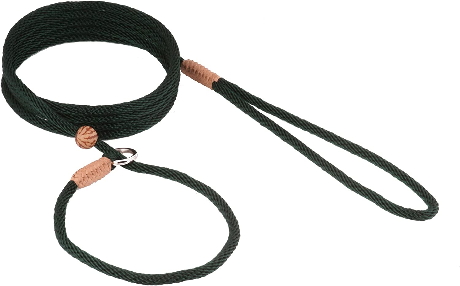 Alvalley Nylon Slip Lead with Stop for Dogs 4mm X 6ft