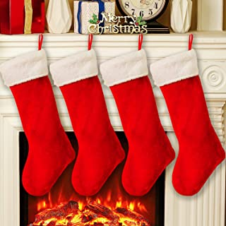 Best red plush christmas stocking Reviews