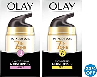 Olay Total Effects 7in1 Beauty Box: Day Moisturiser 50 ml + Night Firming Moisturiser 50 ml