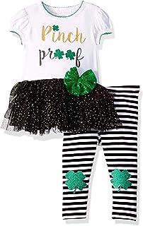 Baby-Girls St Patrick's Day Shamrock Legging Set