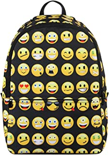Printed Emoji Kids School Backpack