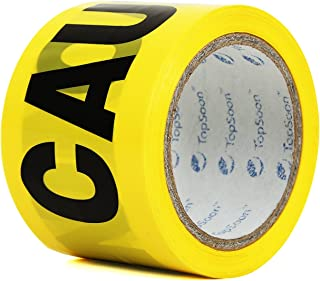 TopSoon Yellow CAUTION Tape Barricade Tape Safety Warning Barrier Tape 3-Inch by 300-Feet Roll Non-Adhesive