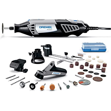 Dremel 4000-4/34 Variable Speed Rotary Tool Kit - Engraver, Polisher, and Sander- Perfect for Cutting, Detail Sanding, Engraving, Wood Carving, and Polishing- 4 Attachments & 34 Accessories , Gray