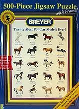 Breyer 500-piece Jigsaw Puzzle with Frame - Twenty Most Popular Models Ever!