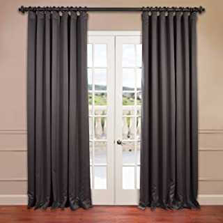 HPD HALF PRICE DRAPES BOCH-201403-120-DW Extra Wide Blackout Room Darkening Curtain, 100 X 120, Anthracite Grey