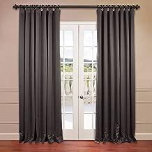 HPD HALF PRICE DRAPES BOCH-201403-120-DW Extra Wide Blackout Room Darkening Curtain, 100 x 120, Anthracite Grey