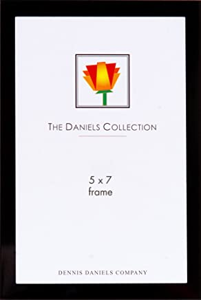 Dennis Daniels Metal Picture Frame, 5 x 7 Inches, Metallic Matte Black