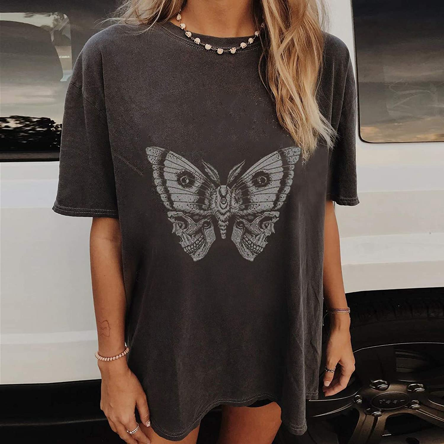 Shirts Graphic Tee for Women Vintage Summer Casual Short Sleeve O-Neck Tshirts Blouse Loose Fit Tops