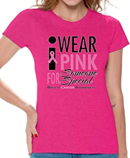 Women's I Wear Pink for Someone Special T-Shirt Cancer Shirt