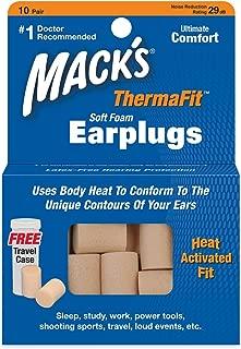 Mack's Therma Fit Ear Plugs (10 Pair) - Beige