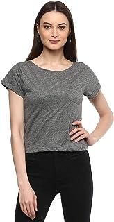 AMERICAN CREW Women's Regular Fit Crop Top