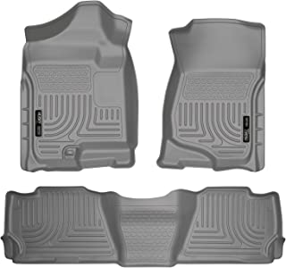 Husky Liners - 98252 Fits 2007-14 Cadillac Escalade, 2007-14 Chevrolet Tahoe, GMC Yukon Weatherbeater Front & 2nd Seat Floor Mats Grey