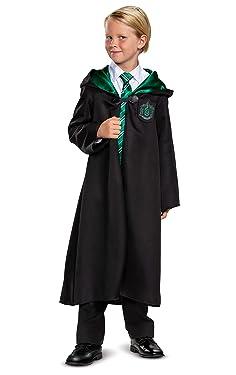 Harry Potter Slytherin Robe Classic Children's Costume Accessory, Black & Green, Kids Size Medium (7-8)