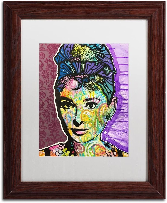 Trademark Fine Art Audrey 2 by Dean Russo, White Matte, Wood Frame 11x14