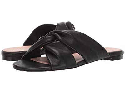 J.Crew Knotted Soft Leather Sandal (Black) Women