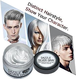 comprar comparacion Cera Cabello Para Pelo Gris Plata, Crema Para Colorante Pelo Temporal, Y.F.M Silver Gray Hair Color Wax 4.23 onzas