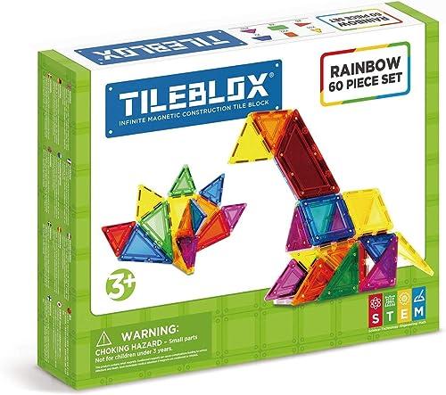 Tileblox Tileblox-60 pièces Rainbow Set, 1030005, MultiCouleure
