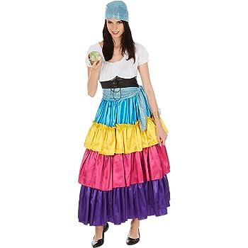 TecTake dressforfun Disfraz de Pitonisa para Mujer | Vestido Largo ...