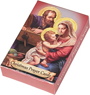 Nativity Wallet Holy Cards with Assorted Christmas Prayers, Pack of 54