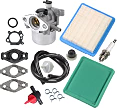 Panari 799866 Carburetor + Tune Up Kit Air Filter Fuel Valve for Briggs and Stratton 790845 799871 796707 794304 491588S 491435S
