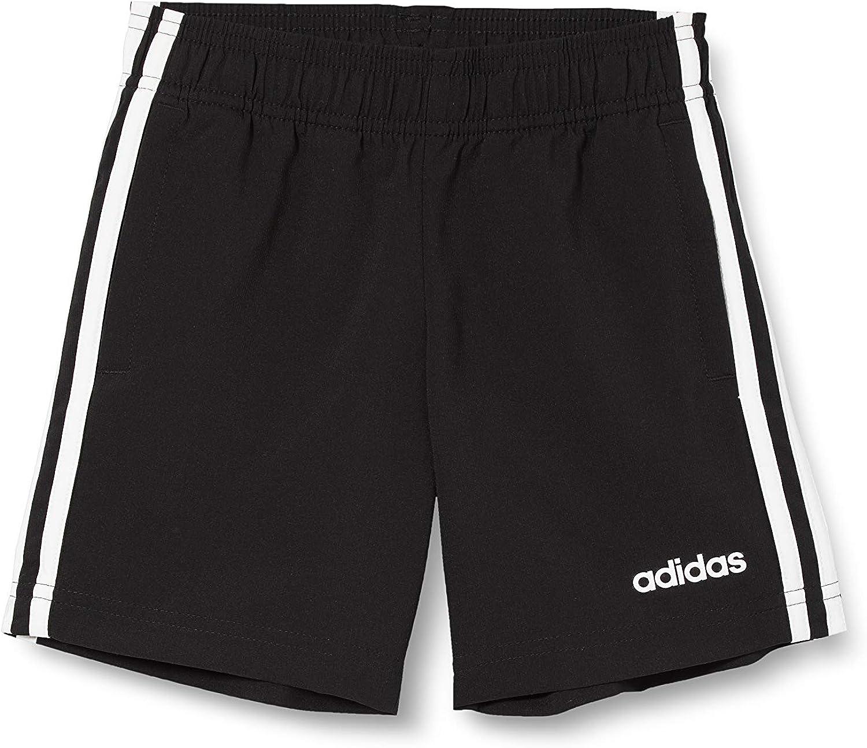 adidas Kids Boys Shorts Training Essentials 3 Stripes Woven Running Black