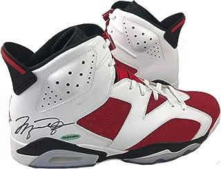 Michael Jordan Autographed Air Jordan 6 Shoes Authenticated UAS23863 - Upper Deck Certified - Autographed NBA Sneakers