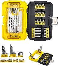 Powerland Juego de brocas combinadas de destornillador de taladro 41 piezas en caja de plástico sólido E01004