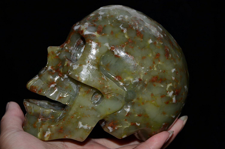 Natural Green Gemstone Crystal unisex Quartz Figurine Skull Re Skeleton Boston Mall