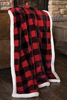 Carstens, Inc Lumberjack Red Plaid Plush Throw Blanket
