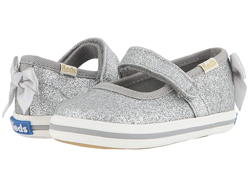 Keds x kate spade new york Kids Sloan MJ Crib (Infant/Toddler) (Silver) Girl