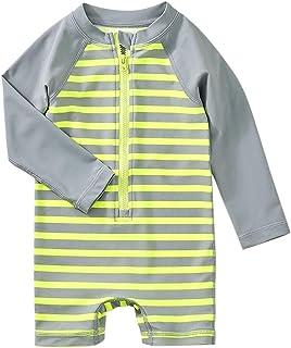 Tea Collection Shortie Rash Guard Swimwear, Boys 12 to 18 Mos, Sunray Stripe