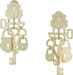 Surreal Lock and Key Earrings