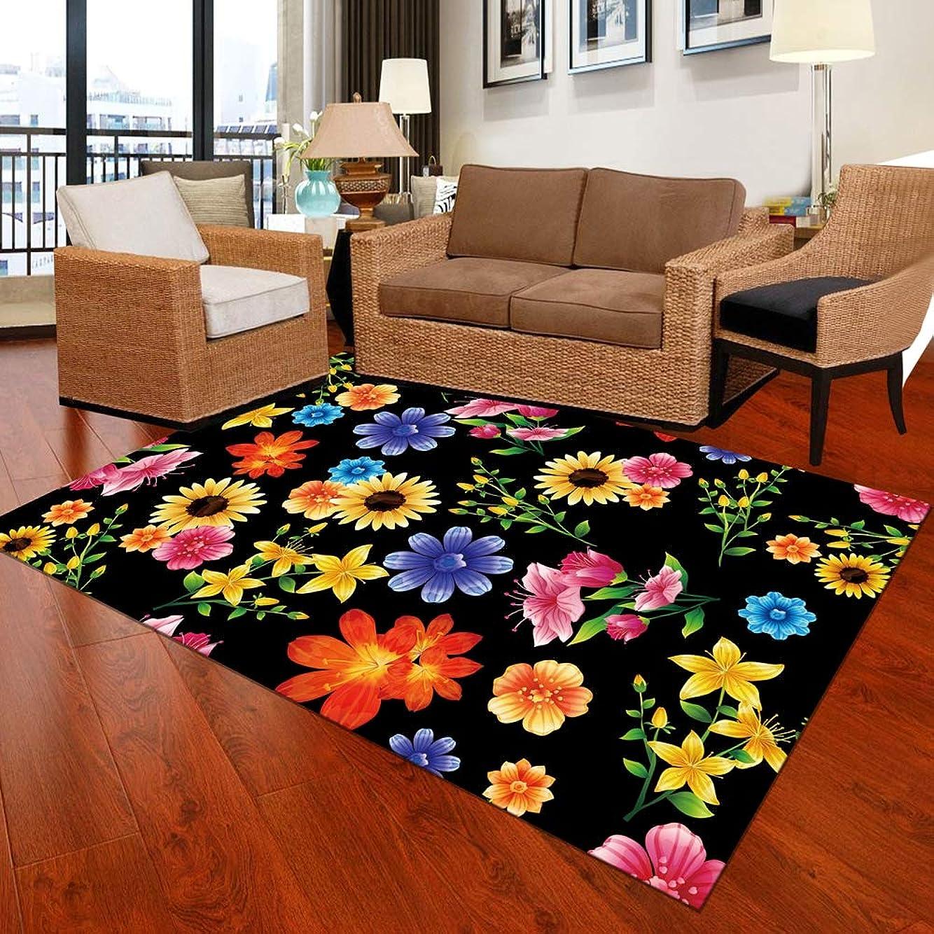 所得強制長椅子1個の寝室のマットの色とりどりの花柄のパーソナライズされた耐久性のあるマット60 x 90センチメートル