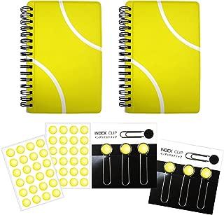 テニス インデックスクリップ2セット+作戦ノート【A6サイズ】2冊+シール2枚 プライム